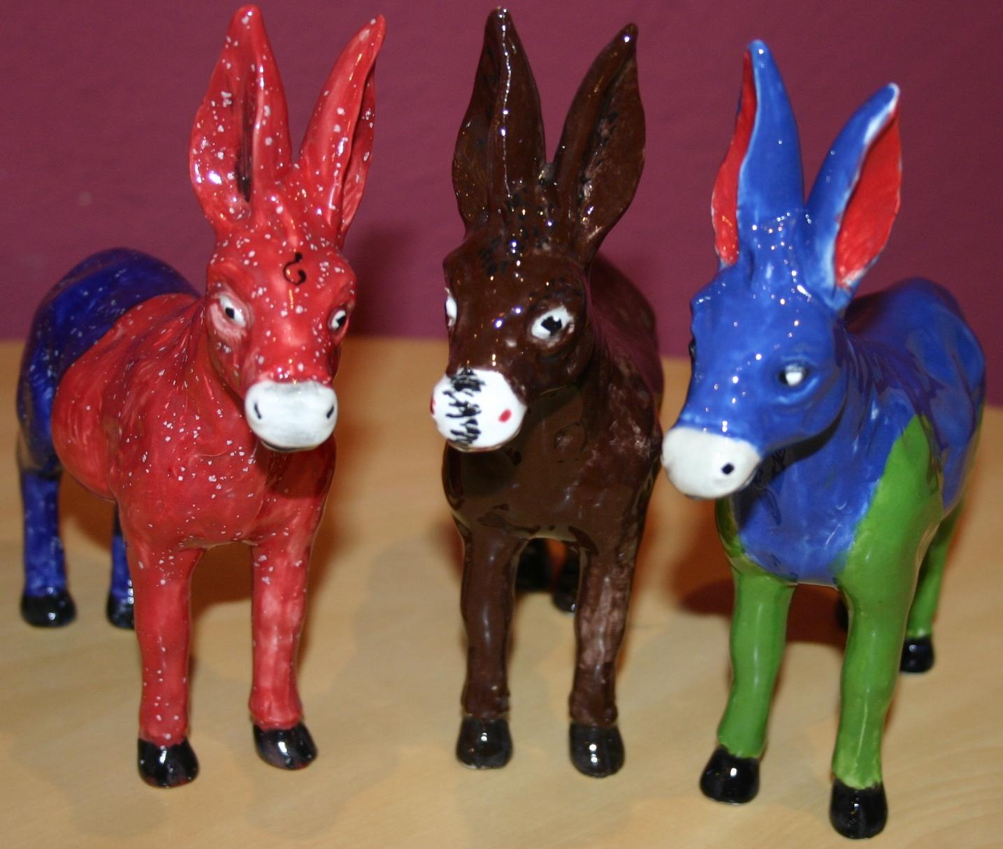 Die Esel von Sent - kreatives Keramikmalen
