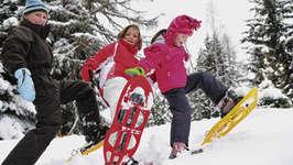 Abenteuerliche Schneeschuhtour bei Vollmond