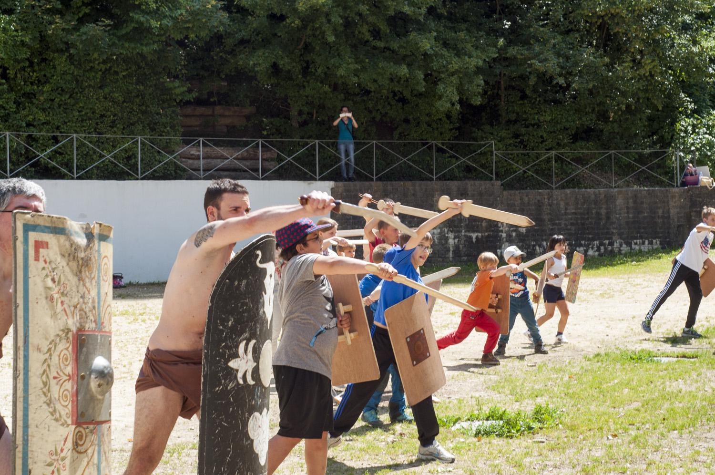 Combat school for gladiators