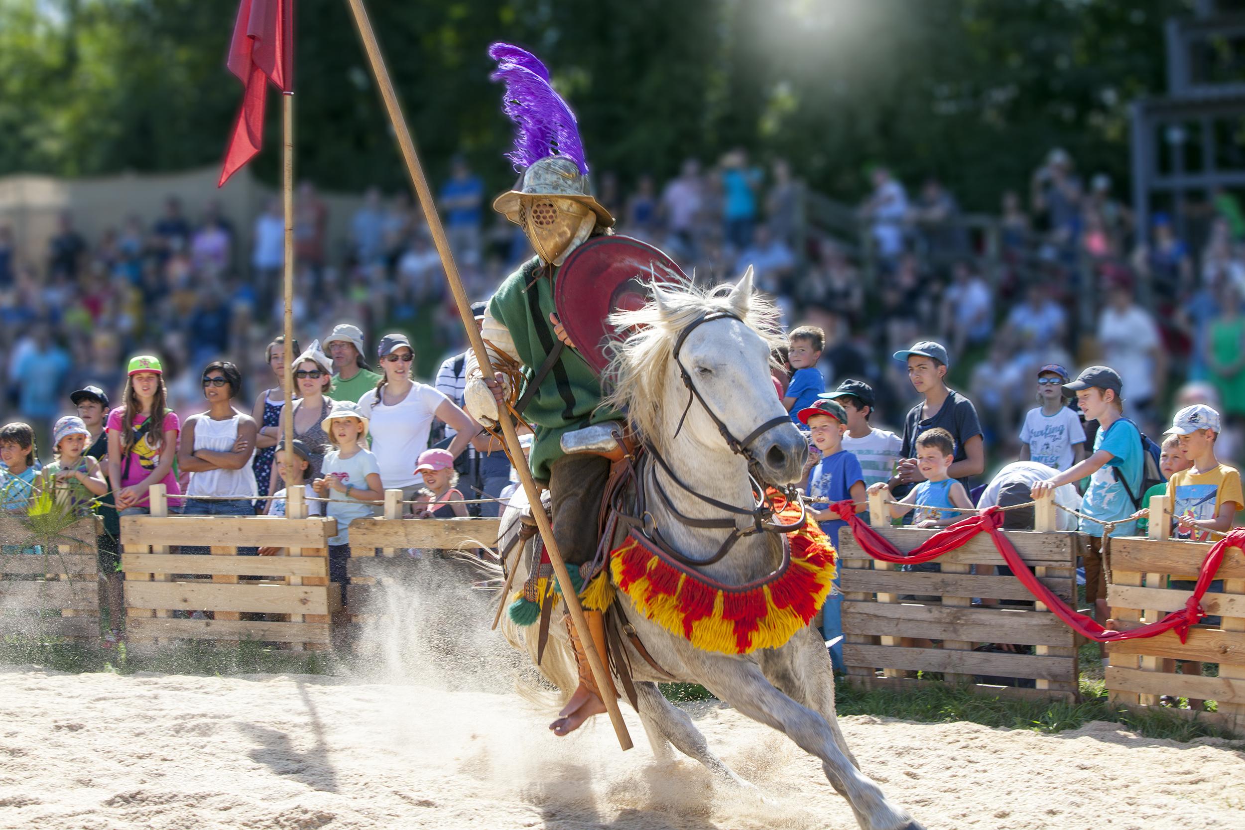 Gladiatorenkampf auf dem Pferd