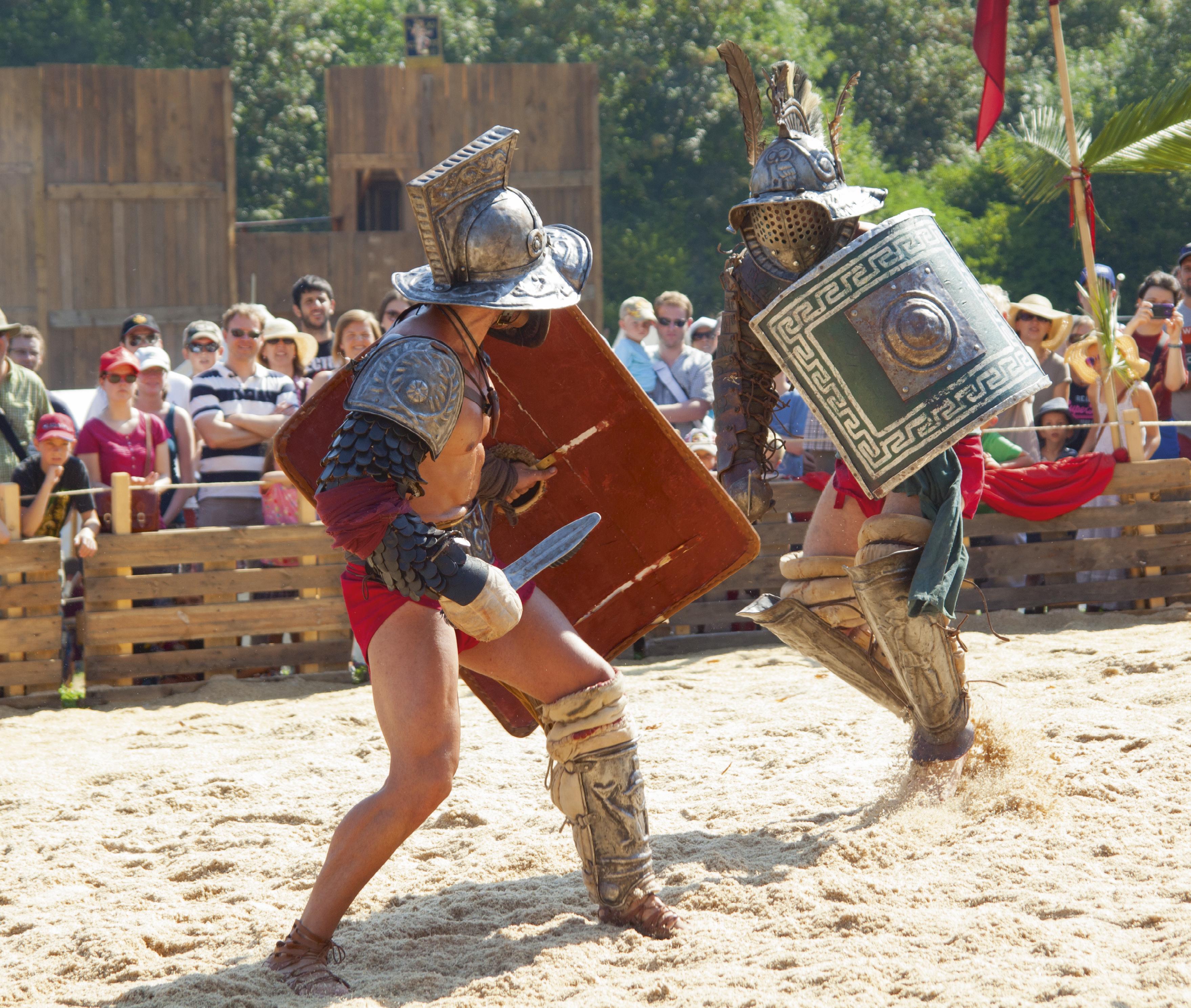 Gladiatoren im Kampf