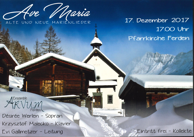Konzert Ave Maria - alte und neue Marienlieder
