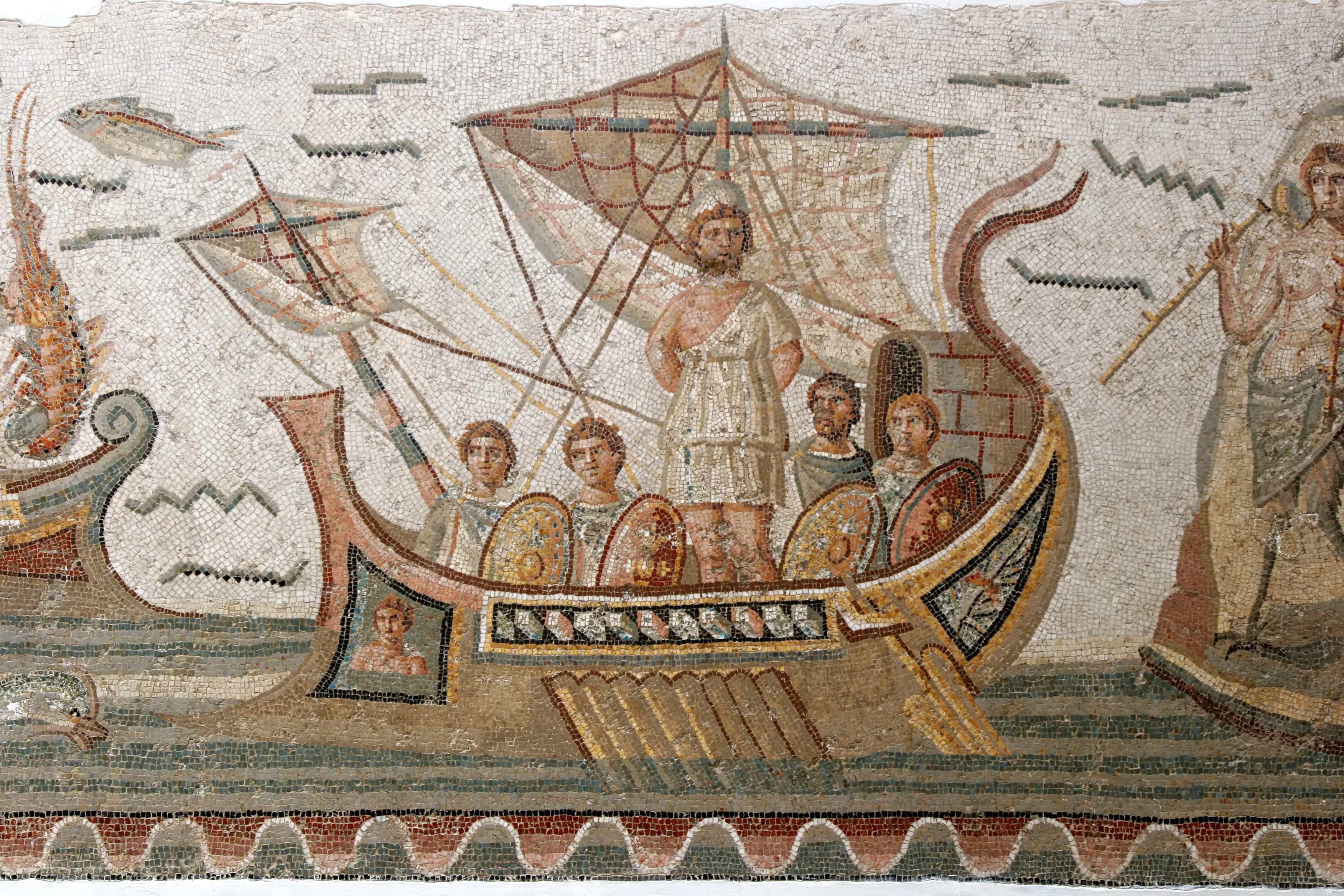 Ulixes (Odysseus) auf dem Weg nach Augusta Raurica als Abgesandter zur Prüfung der poetischen Qualitäten der Barbaren.