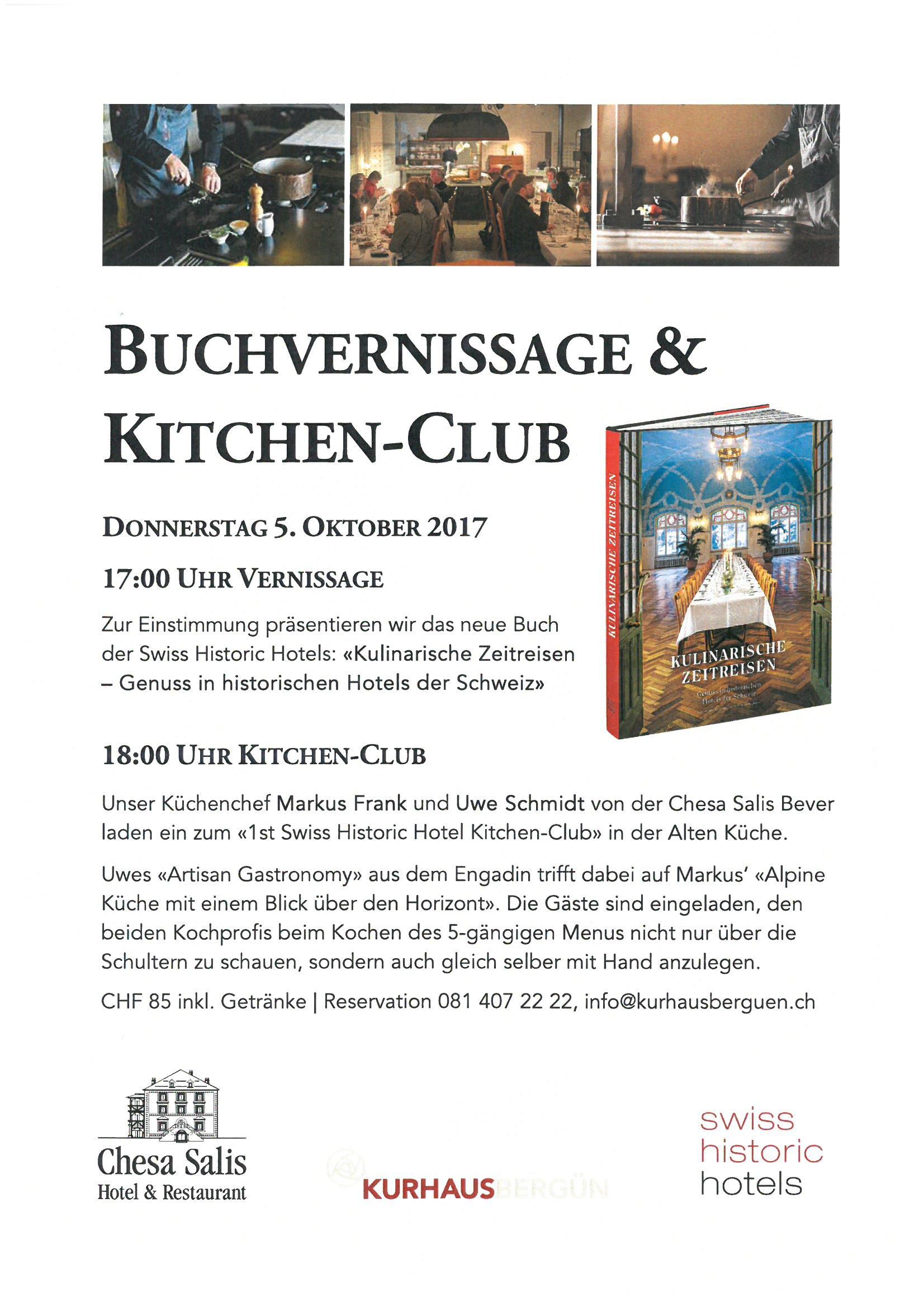 Buchvernissage und Kitchen-Club