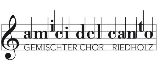 Gemischter Chor amici del canto wöchentliche Probe