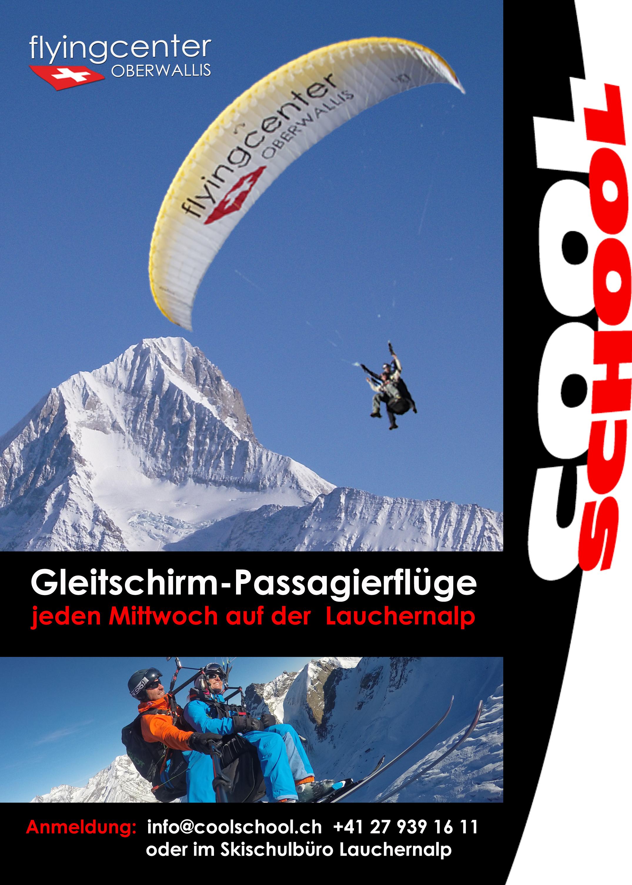 Gleitschirm-Passagierflüge