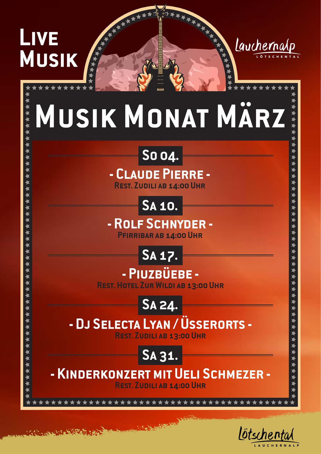 Musik Monat März Live mit Dj Selecta Lyan & Üsserorts