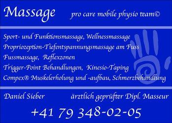 Leistungsangebot Massage (Termine nach Absprache)