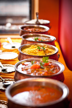unser Currybuffet jeweils am Freitag und Samstag Abend
